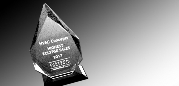 Distech Controls Highest Eclypse Sales Award 2017